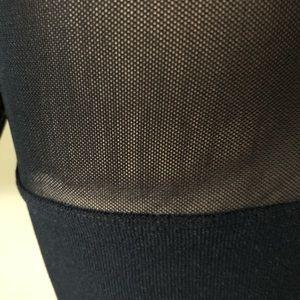 Luxe Junkie Tops - Boutique Black Long Sleeve Mesh Crop Top